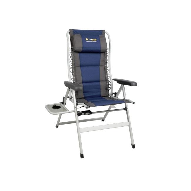 Superb Oztrail Cascade 8 Position Recliner With Side Table Frankydiablos Diy Chair Ideas Frankydiabloscom