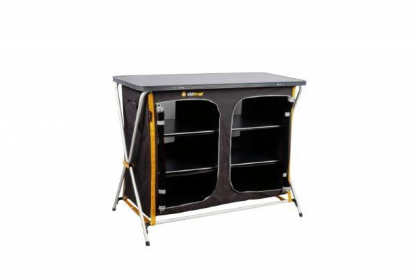 Oztrail Deluxe Folding 3 Shelf Double Cupboard