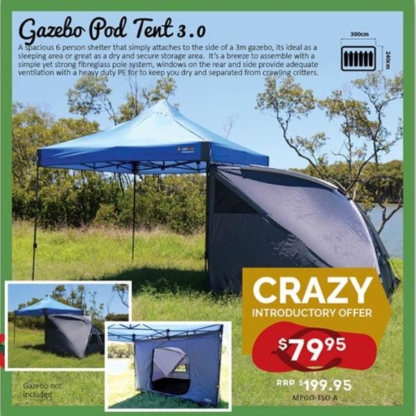 Zoom images & Oztrail Gazebo Pod 3.0 - Camping Plus