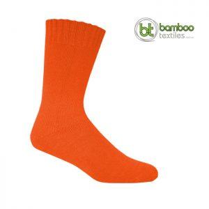 Bamboo Socks Hi-Vis Orange