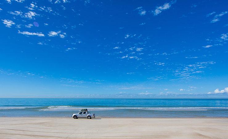 Ocean Beach Bridie Island Camping