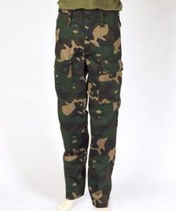 Woodland Camouflage Pattern Trousers